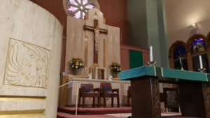 St. David Catholic Church - Baptismal, Sanctuary