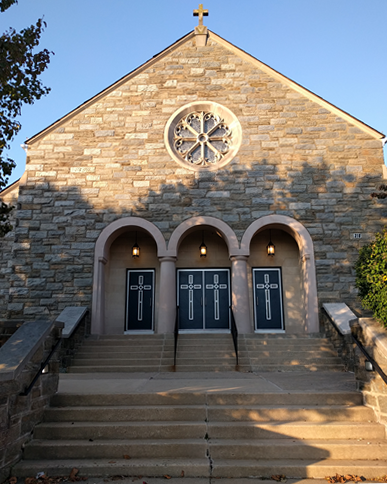 St. David Church Front Doors